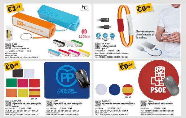 Selección de productos partidos políticos elecciones españa